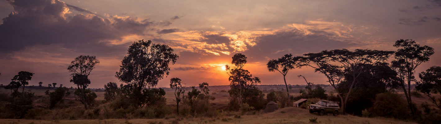 Safaris Unlimited Africa Camp at Sunset