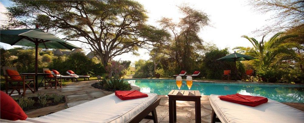Tortillis Camp, Swimming Pool, Safaris Unlimited Africa, Kenya