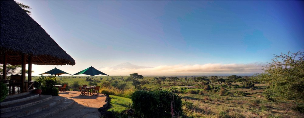 Tortilis Camp - Views from Lounge Area Camps and Lodges in Kenya with Safaris Unlimited Africa