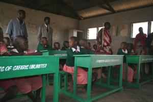 Safaris Unlimited - Conservation Kenya Africa Safaris Donating Desks to the local school