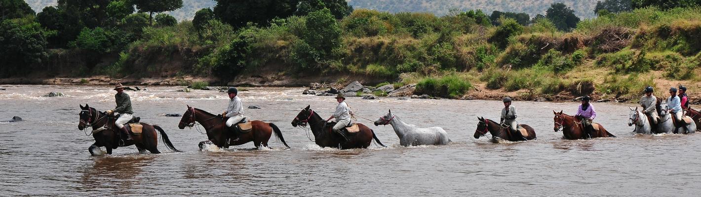 Safaris Unlimited Contact Us Horseback Safari Africa Kenya Riding Across A River